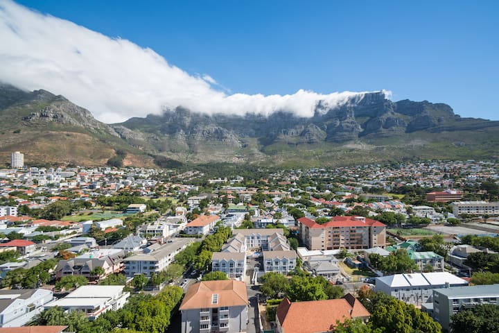 Central studio with best view of Table Mountain