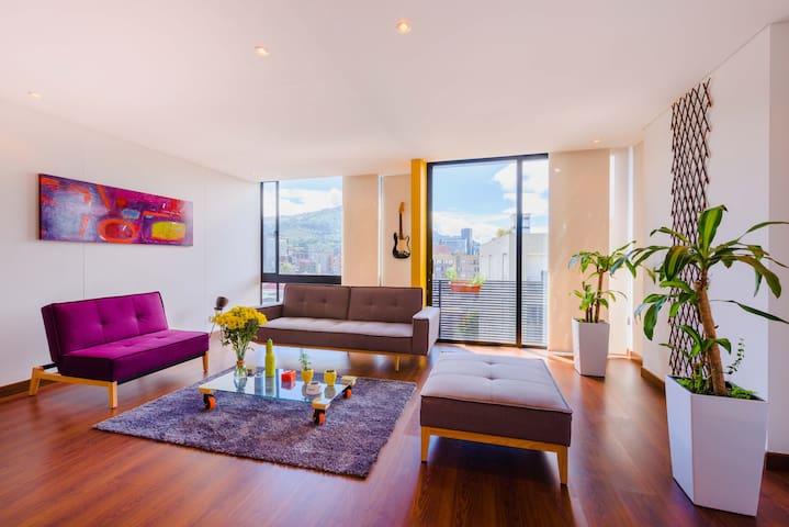 Moderno Apartamento con Cuarto Privado