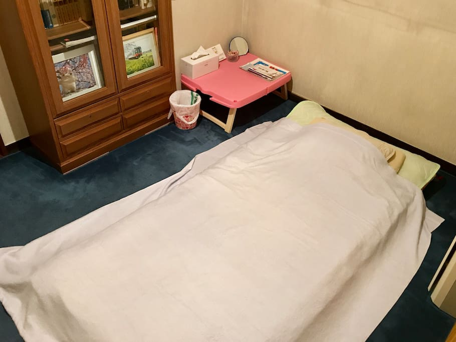 It is a traditional Japanese futon(Summer version)