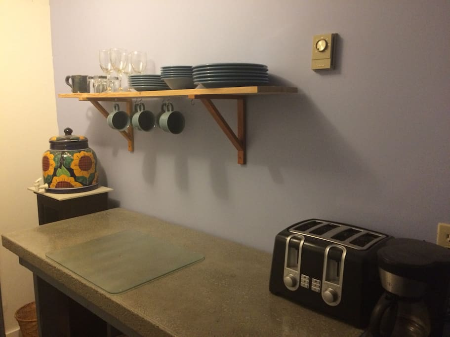 A small kitchenette is available to you for your stay.