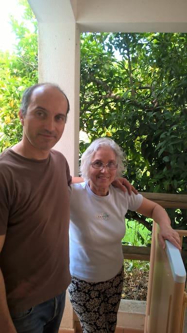 Filipe et sa mère Fernanda