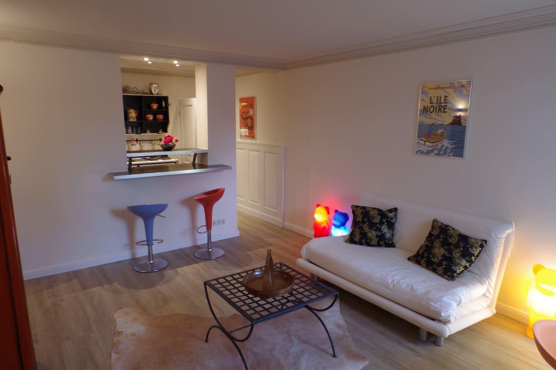 Modern designer studio apartment