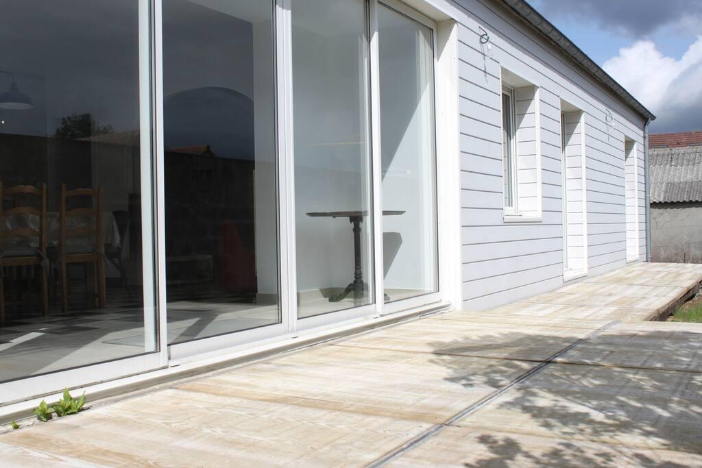 maison de vacances bord de mer maisons louer saint pair sur mer normandie france. Black Bedroom Furniture Sets. Home Design Ideas