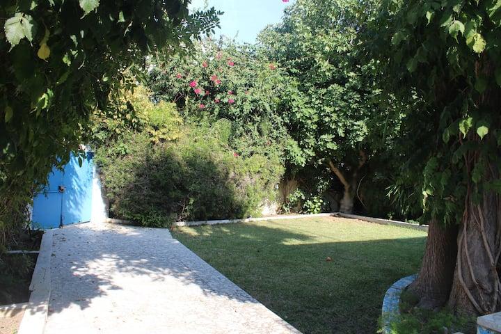 Cozy room in a villa with a garden near the beach