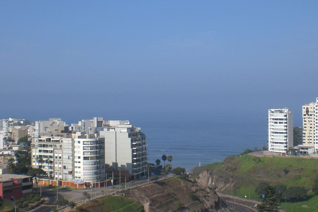 View from the apartment. Conveniently close both to Miraflores and Barranco.