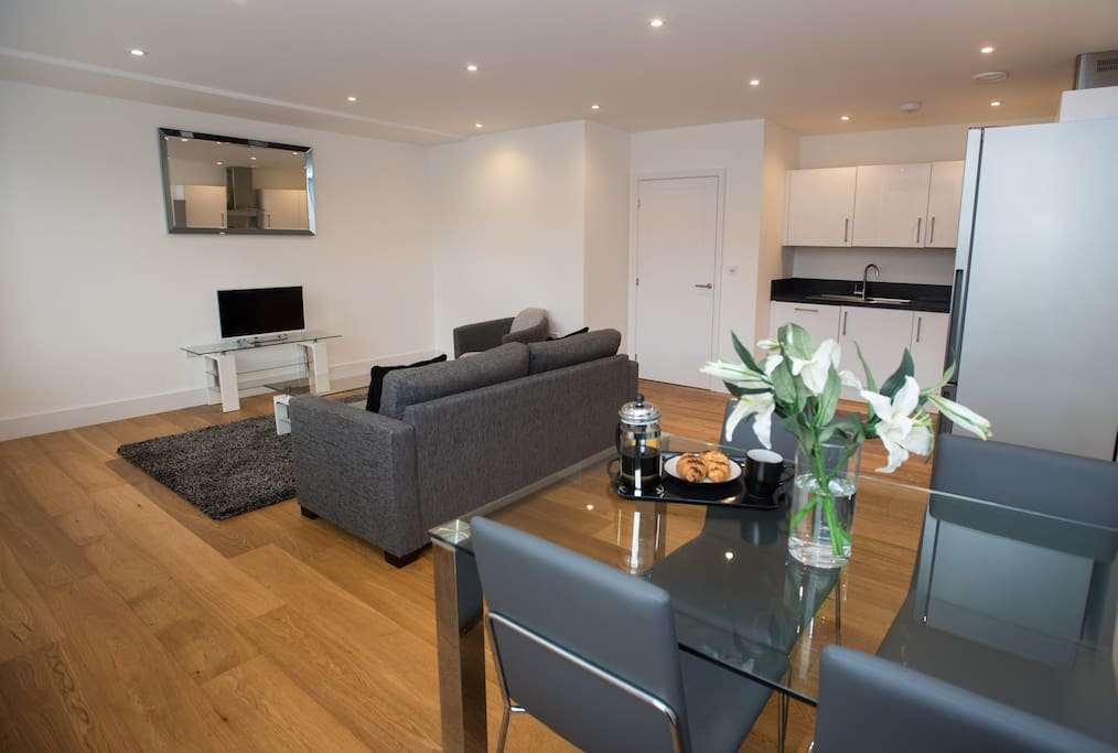 The images provided are of one of a number of apartments we have within Sussex House and so while your apartment may not be identical to the apartment shown, the images provided offer a very accurate representation of the standard and décor of all our apartments.