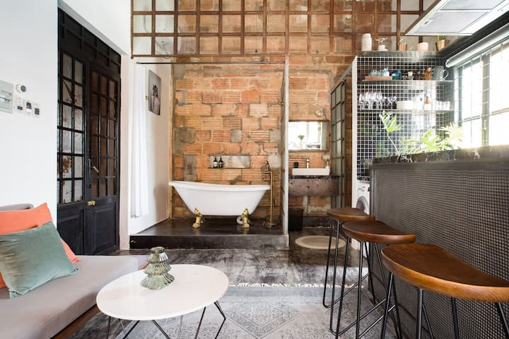 Cool Designer Apartment with Stunning Retro Details