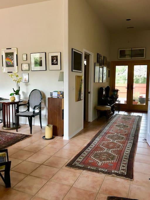 Hallway from entrance door to the bedroom