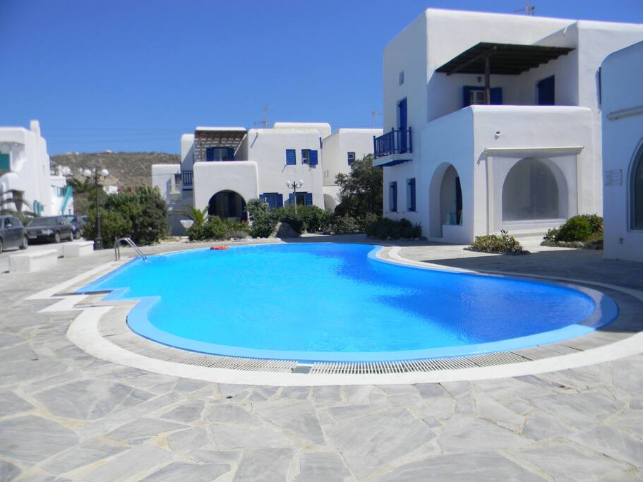 View of the house complex and the pool