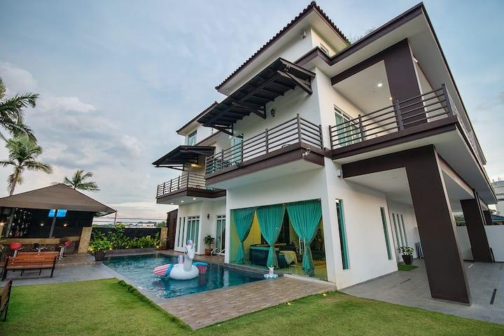 Lé Mountain Villa @5 Big Room +Swimming Pool + KTV