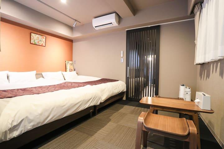 New❤ Luxury Apt Hotel 5mins to Shijo Sta! 7S-201