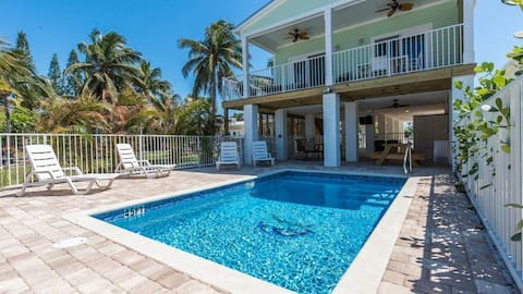 (#8) WATERFRONT! Our Beautiful New Single Family 4 Bed 3 Bath Pool Home W/DOCK