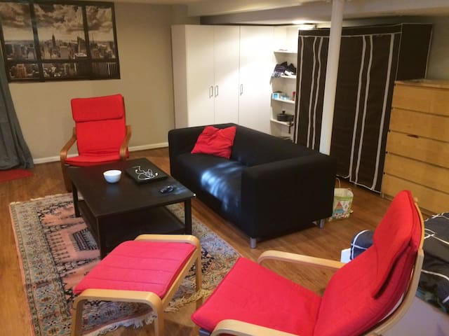Fully Furnished Cozy Studio in English Basement