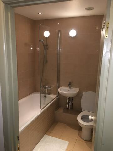 Private en suite bathroom accessible for guests in either of the two bedrooms.