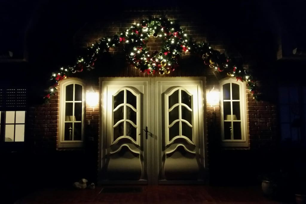 Weihnachtliche Stimmung auf dem Leutnantshof.