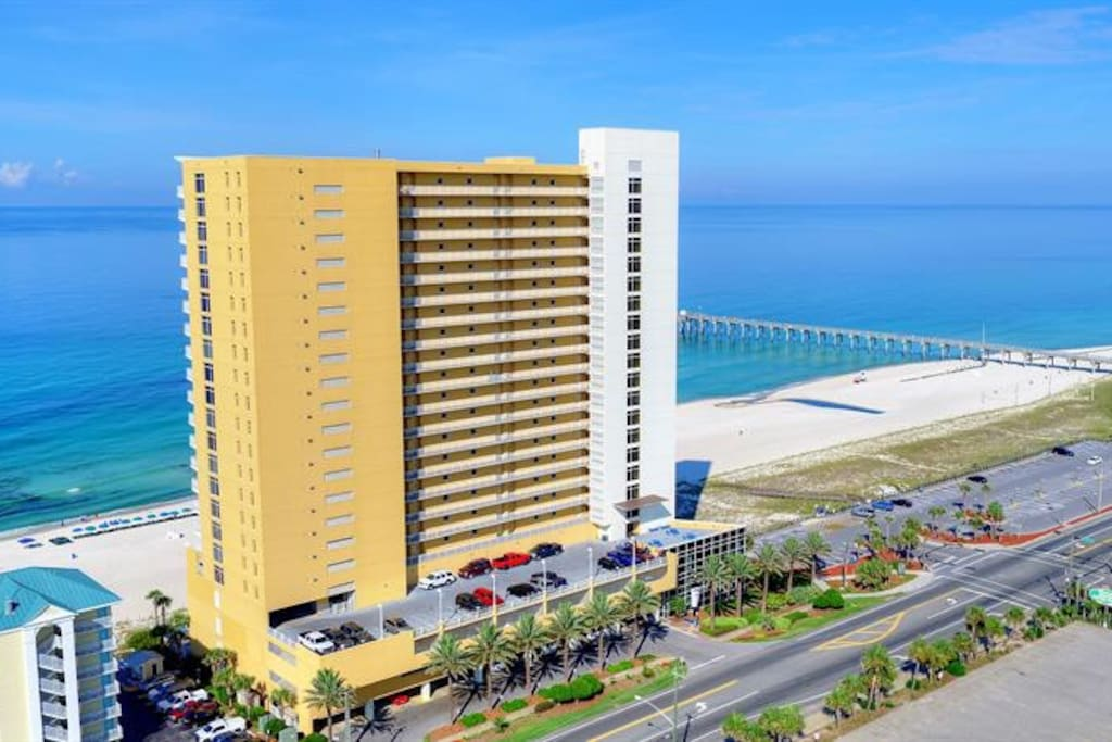 Resort located directly on the Gulf of Mexico.