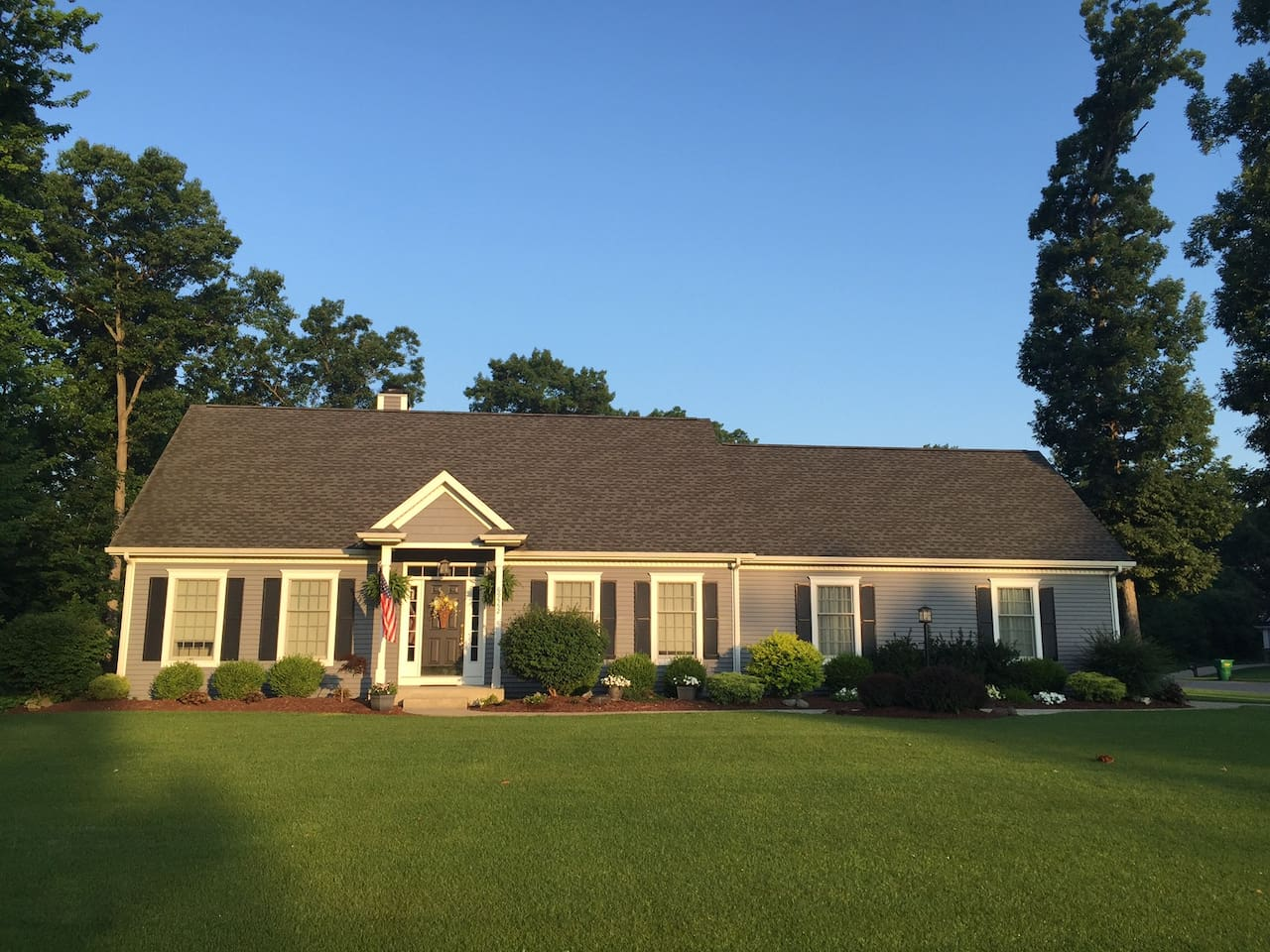 Recently built colonial cape home in quiet subdivision