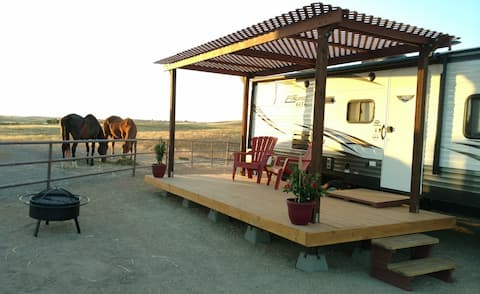 """Sunset Ranch: A true """"glamping"""" experience!"""