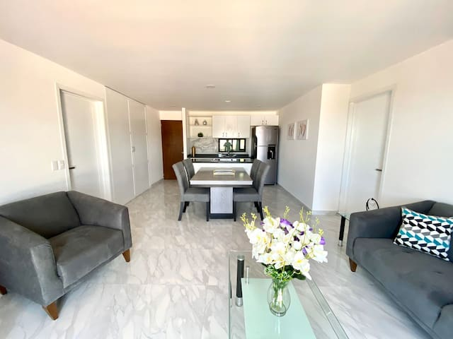 Brand New 2 Bedroom Condo with A/C WiFi Pool Gym