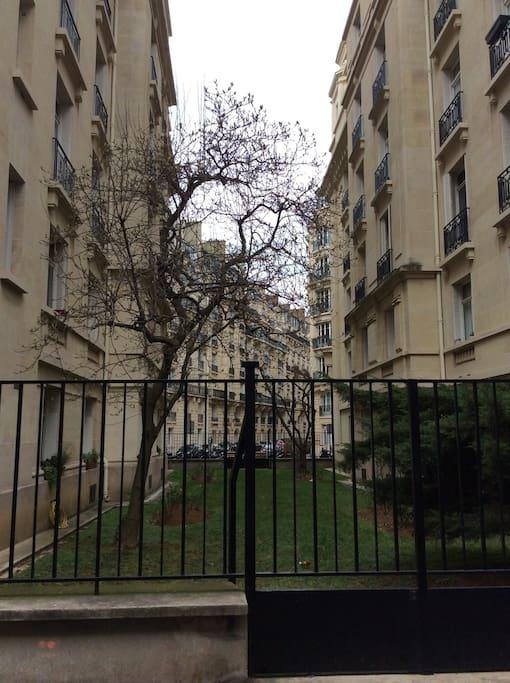 Le jardin de l'immeuble