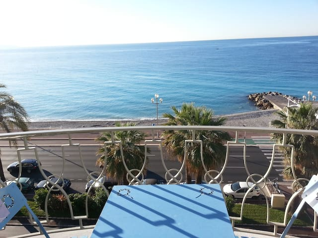 Promenade des Anglais one bedroom with terrace - Nice - Apartemen