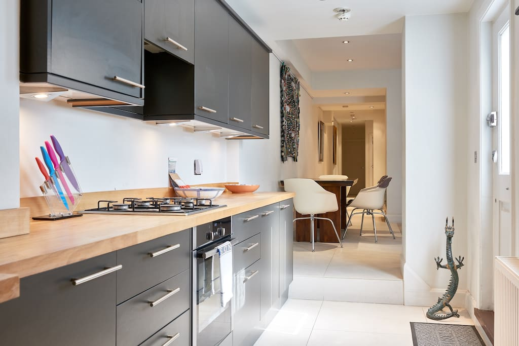 My property has everything you need; a sleek kitchen...