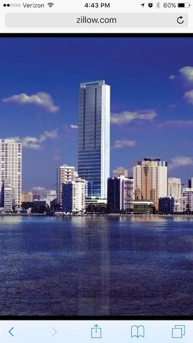 You could be staying in the 35th floor of this beautiful building. One of the tallest buildings in Florida.