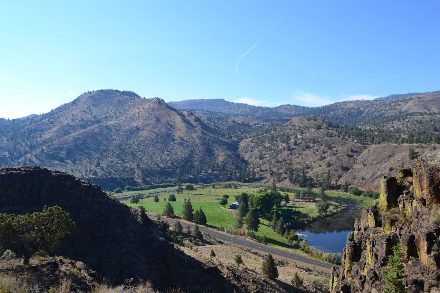 Overlooking the ranch from the rimrocks that is accessible by a foot trail to our guest.