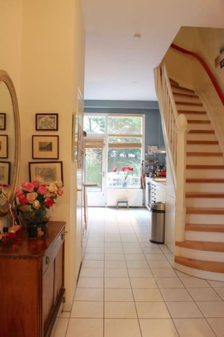Hallway and entrance to kitchen and upstairs to the bedrooms