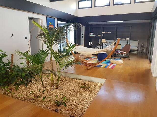Coliving room 4, Loft 350m², jardin et piscine