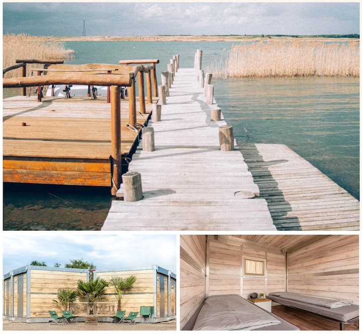 Glamping Camp: Lodge for 2 Pax at Gräbendorfer See