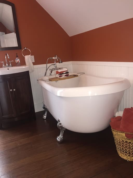 Relax in jetted tub.