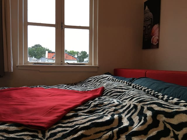 Guestroom one has a spacious King size bed and is discreetly located separately from main area.