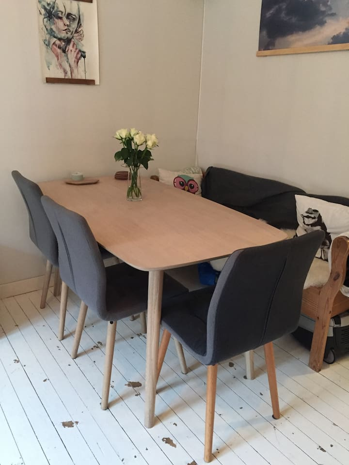 nice and big dining table