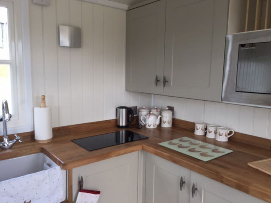 Our handmade kitchen with everything you need for a stress free stay!