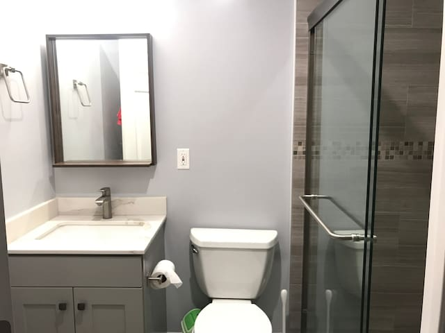This bathroom serve a guest room only