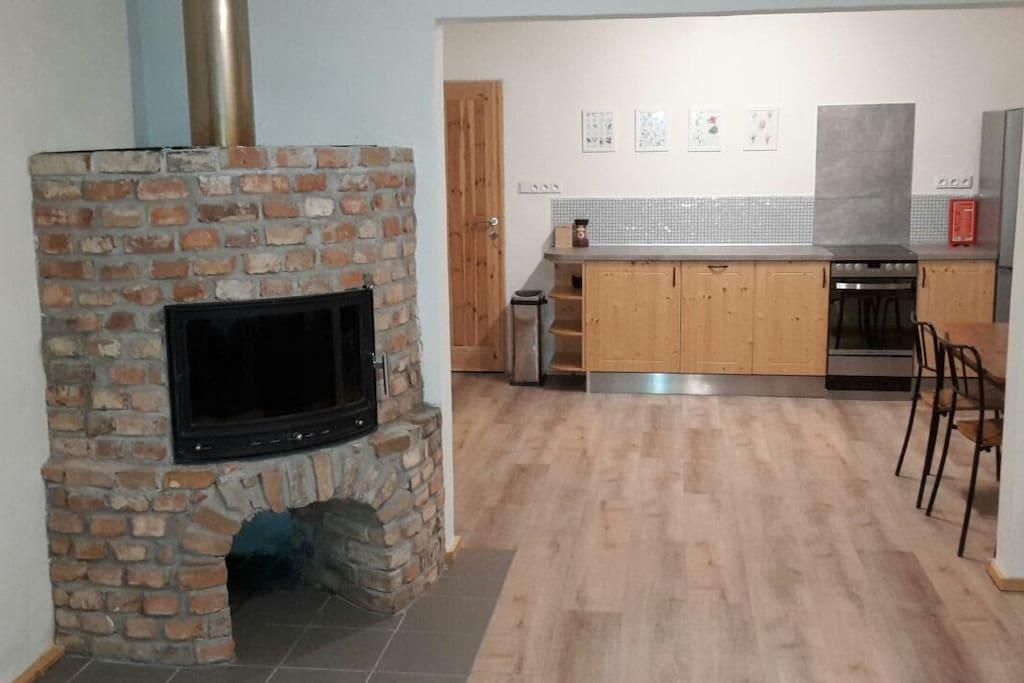 Apartment 1: Kitchen view
