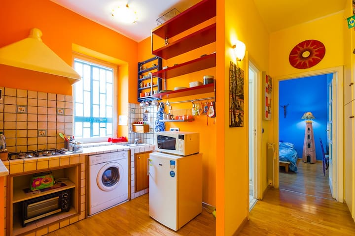 Warm and Colorful Apartment