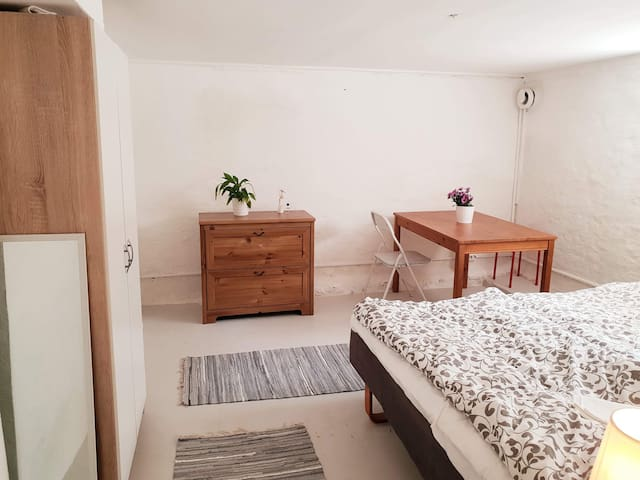 Simple room great location! Unit three