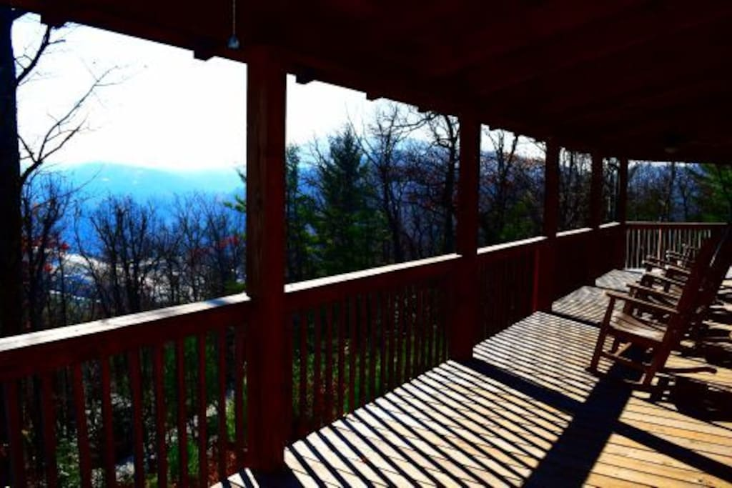 View from A Carolina Cabin's wrap-around deck.