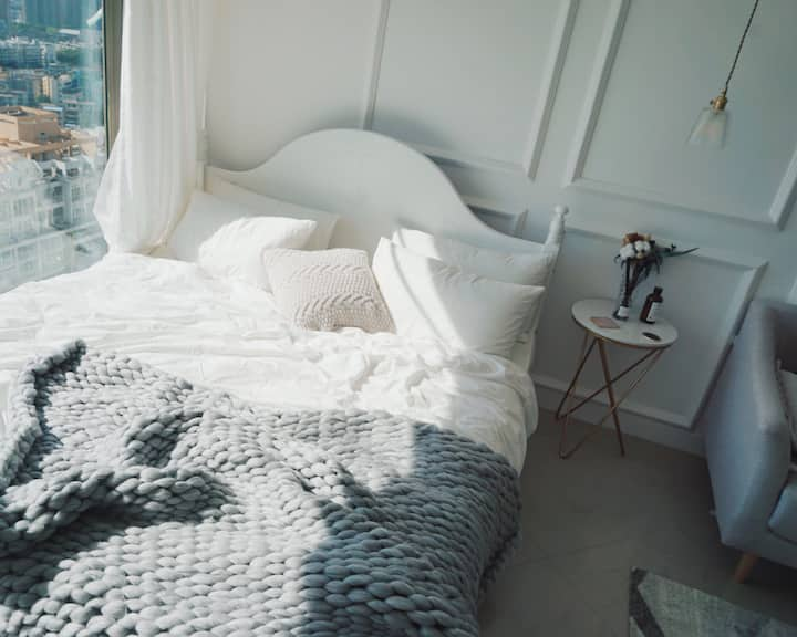 [Misa's house] '想'老街地铁口/kkmall万象城罗湖口岸/ins风商务房/直达香港