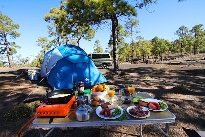 Комфортабельная палатка в заповеднике Тейде