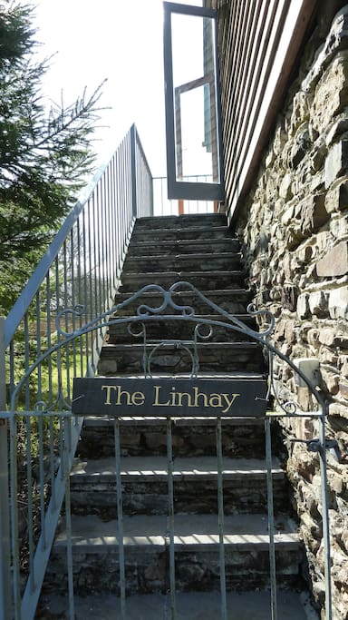 Stairs up to The Linhay