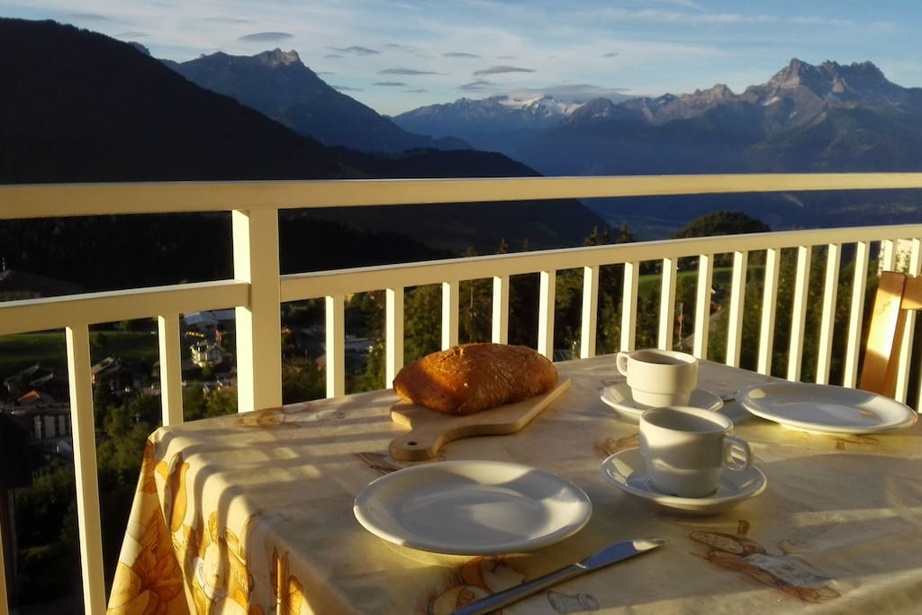 Breakfast with an amazing view
