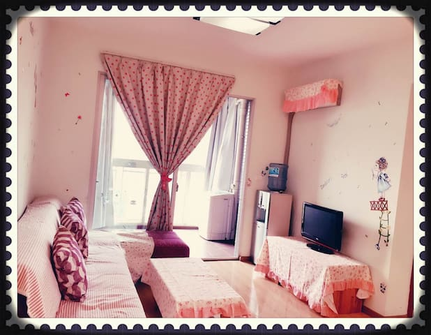 可接送机!【时光•漫步民宿】~地铁6号线旁商圈边的一室一厅公寓 - 渝北区 - Leilighet