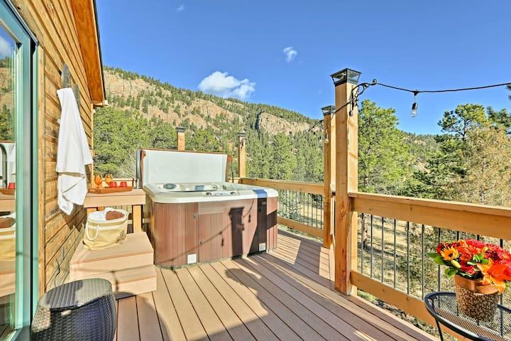 NEW! 3BR Bailey House w/ Mountain Views & Hot Tub!
