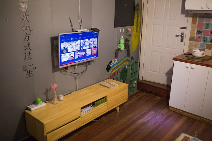 Cosy apartment in Xintiandi,ins粉色少女风老上海里弄房