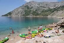 sea kayaking in Brela