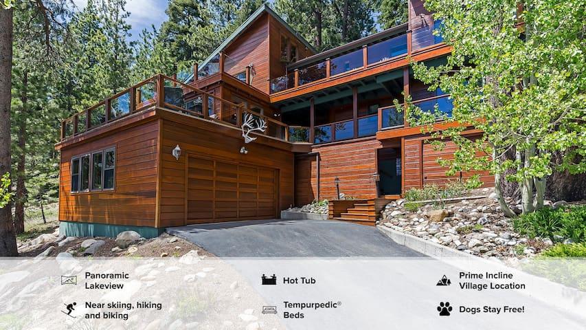 RARE Tahoe Estate. You'll ♥ the Lake View/Hot Tub.