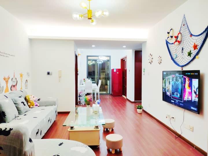 [风雅颂1]75平大一房,54寸超清大屏网络电视 ,洗净的被褥拖过的地 清新的空气 更干净更放心